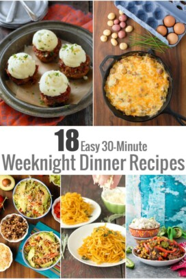 18 Easy 30-Minute Weeknight Dinner Recipes title image