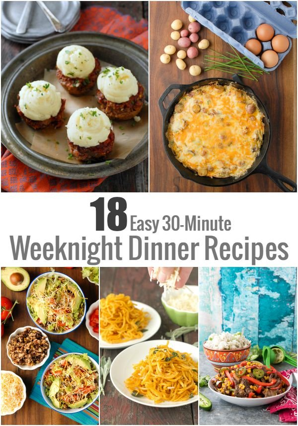 18 Easy 30-Minute Weeknight Dinner Recipes
