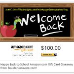 Back-to-School Amazon.com Gift Card Giveaway $100 - BoulderLocavore.com_