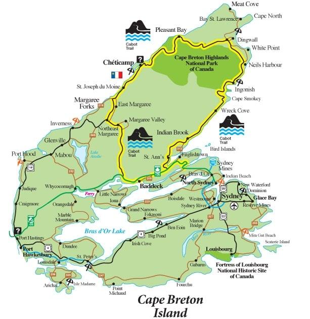 Cape Breton Island Canada map BoulderLocavore.com