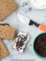DIY No Cook S'Mores with Homemade Organic Marshmallow Fluff. An easy gluten-free treat for kids to make themselves - BoulderLocavore.com