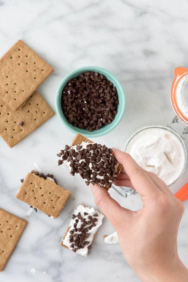 DIY No Cook S'Mores with Homemade Organic Marshmallow Fluff - BoulderLocavore.com