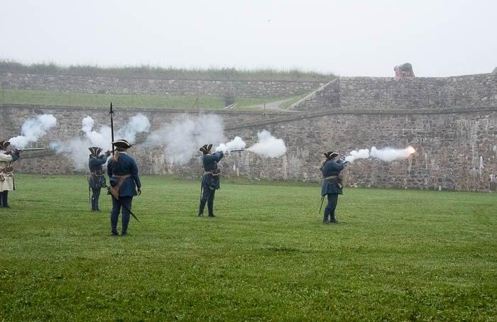 Firing Muskets, Fortress of Louisbourg, Cape Breton Canada - BoulderLocavore.com