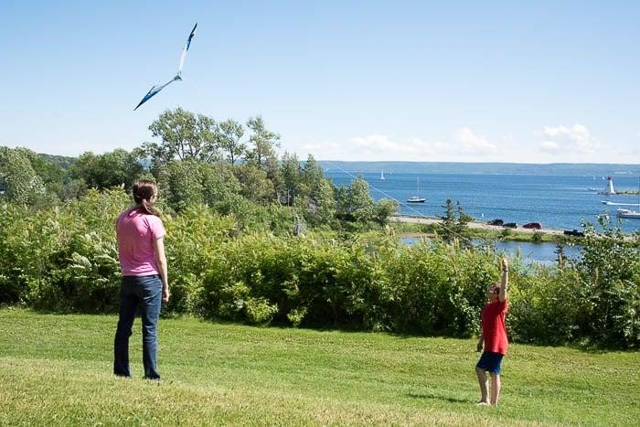 Flying Kites, Alexander Graham Bell Historic Site, Baddeck, Cape Breton Canada - BoulderLocavore.com