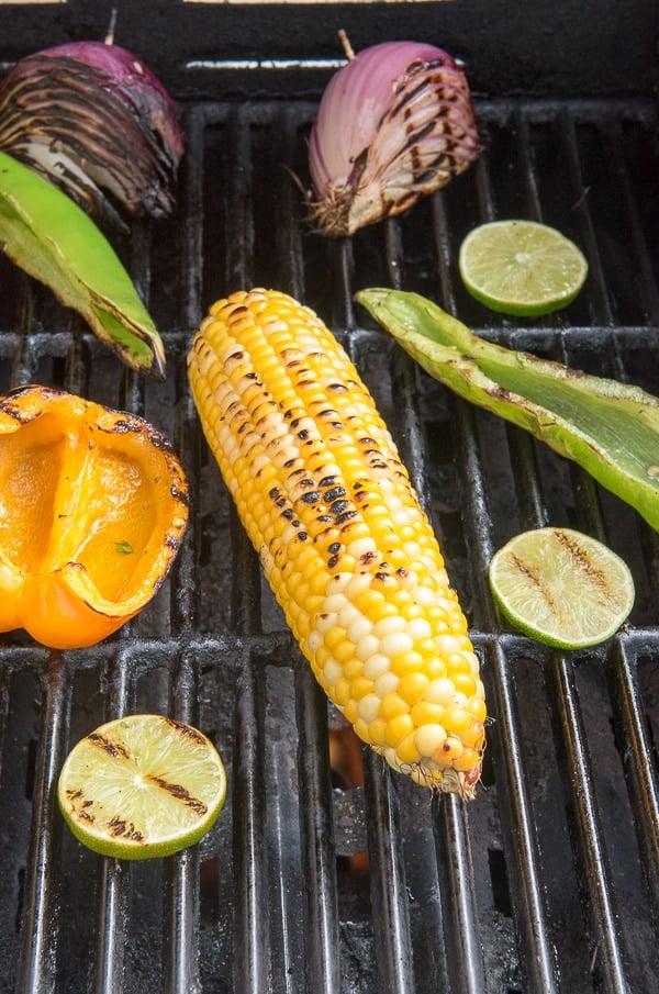 Grilled Summer Vegetables for Smoky Grilled Chicken & Vegetable Quesadilla - BoulderLocavore.com