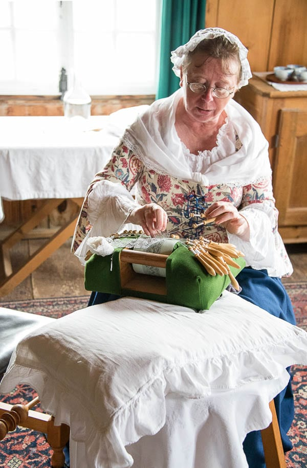 Lace maker, Fortress of Louisbourg, Cape Breton Canada - BoulderLocavore.com