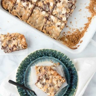 Mermaid Bait Bars. A gooey mix of semi sweet chocolate, white chocolate and butterscotch on a graham cracker crust (gluten-free or regular) are sure to lure everyone! - BoulderLocavore.com