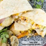 Smoky Grilled Chicken & Vegetable Quesadillas