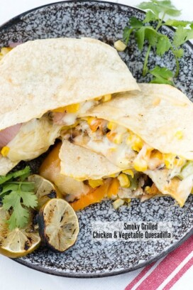 No Oven Dinner Recipes Smoky Grilled Chicken & Vegetable Quesadilla