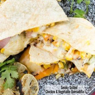 Smoky Grilled Chicken & Vegetable Quesadilla - BoulderLocavore.com