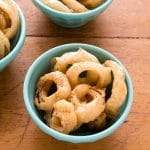 Spicy Beer-Battered Onion Rings {gluten-free}