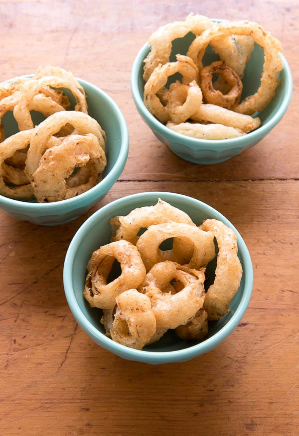 Spicy Beer-Battered Onion Rings {gluten-free} - BoulderLocavore.com