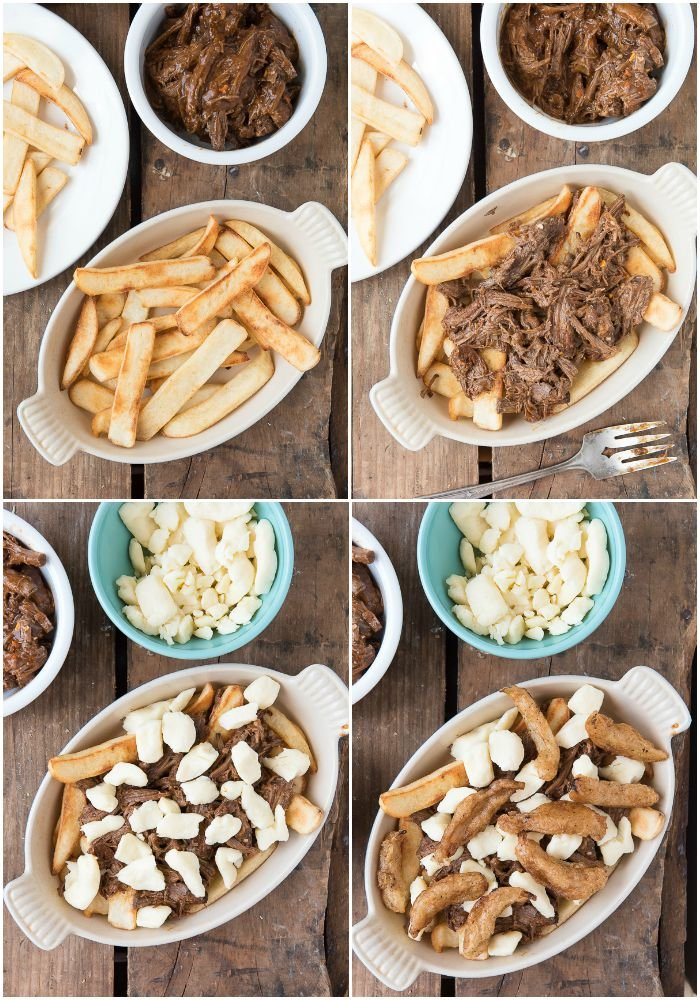 Barbecue Beef Poutine with Beer-Battered Onions BoulderLocavore.com