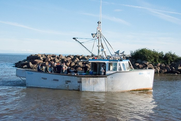 Bay of Fundy, fishing boat - BoulderLocavore.com