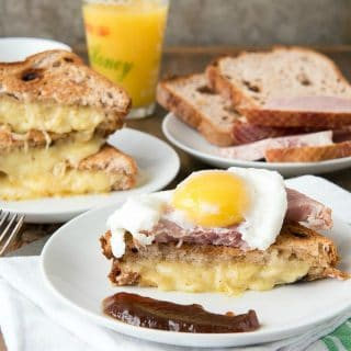 A plate of food on a table, with Egg and Cheese