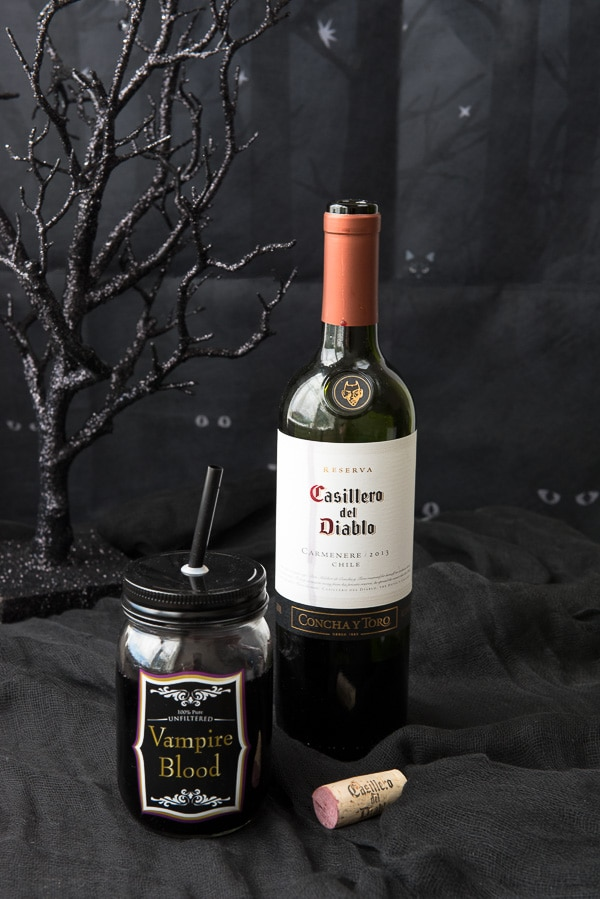Great Halloween Party Planning Tips- Vampire Blood (wine) - BoulderLocavore.com