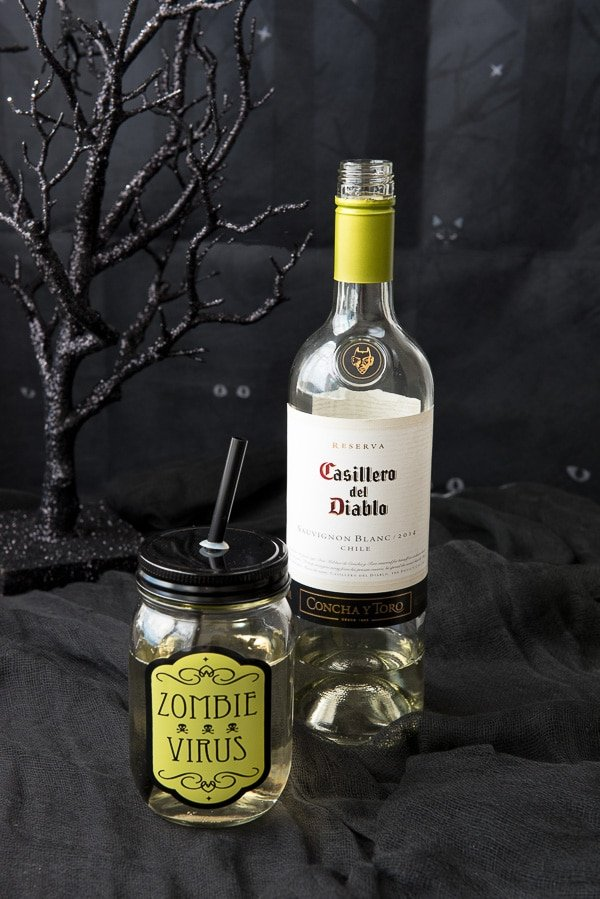 Great Halloween Party Planning Tips- Zombie Virus (wine) - BoulderLocavore.com