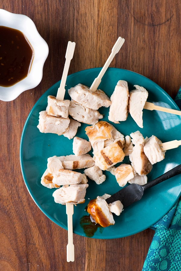Grilled Chicken Bites and Chipotle Barbecue Dipping Sauce - BoulderLocavore.com