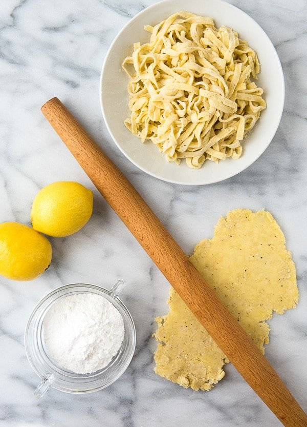 Making Homemade Gluten-Free Lemon Pepper Fettuccine Pasta - BoulderLocavore.com