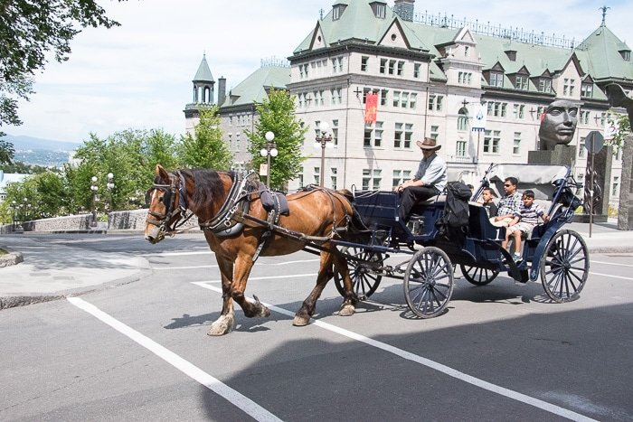 Quebec City, Upper City Horse Carriage Rides BoulderLocavore.com