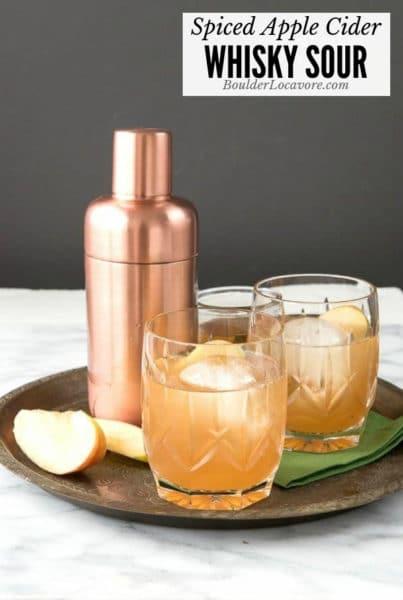 Spiced Apple Cider Whisky Sour