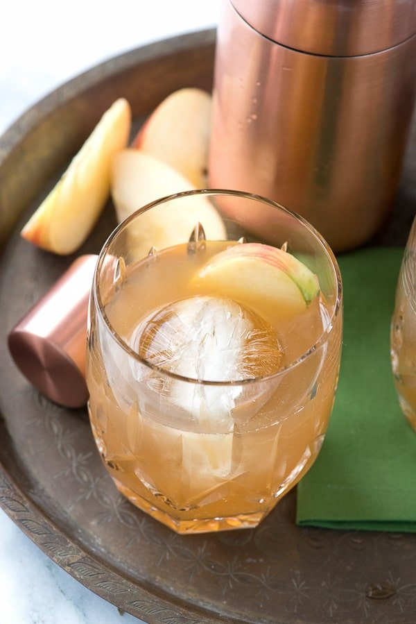 Spiced Cider Apple Whisky Sour with Homemade Cinnamon Simple Syrup - BoulderLocavore.com