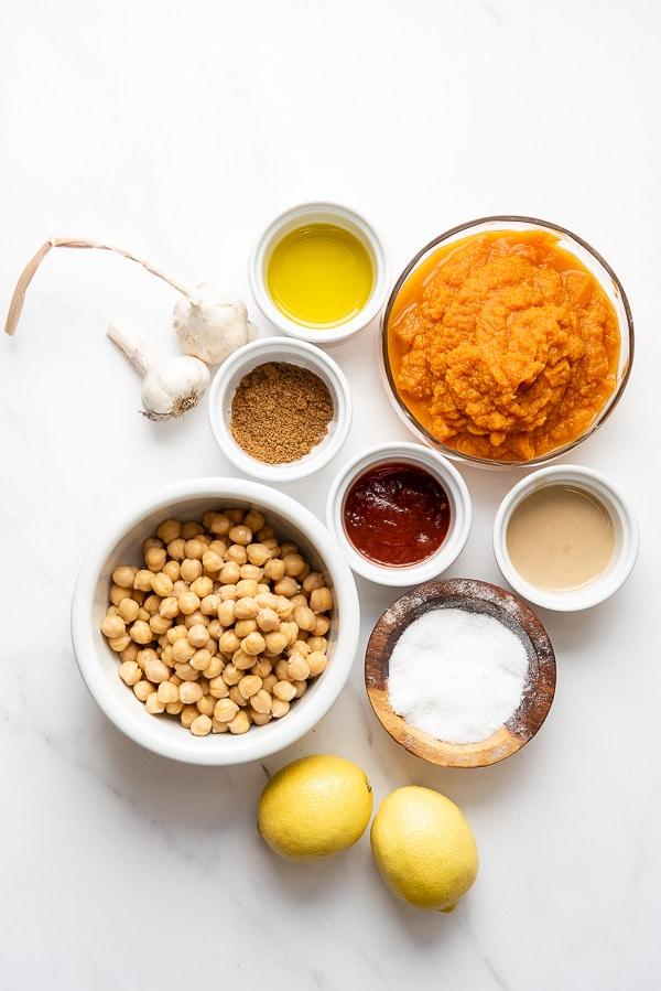 Spicy Chipotle Pumpkin Hummus ingredients