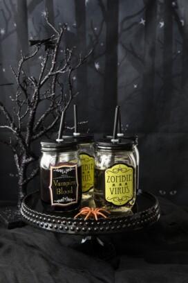 Zombie Virus (white wine) and Vampire Blood (red wine)