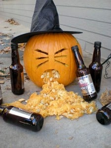 Vomiting Drunk Pumpkin Witch | BoulderLocavore.com