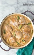 Cider-Braised Chicken Thighs with Apples and Onions