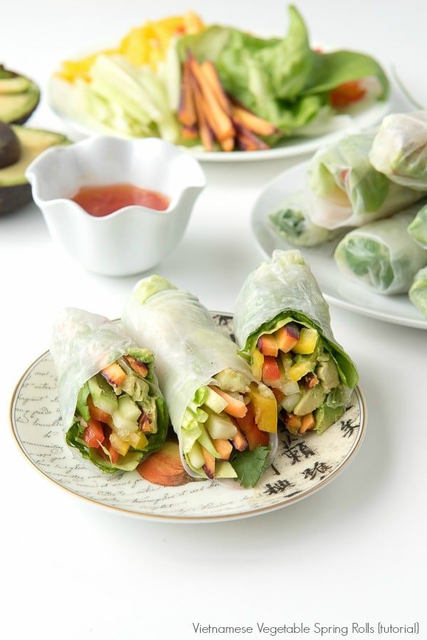 No Oven Dinner Recipes DIY Vietnamese Vegetables Spring Rolls - vegetarian - BoulderLocavore.com