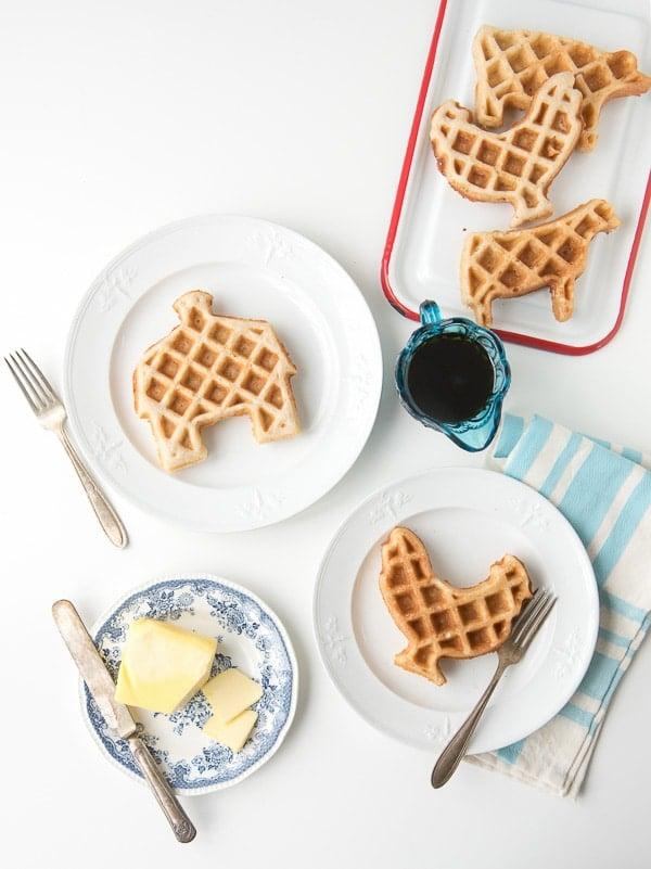 Gluten-Free Maple-Pecan Barnyard Waffles - BoulderLocavore.com