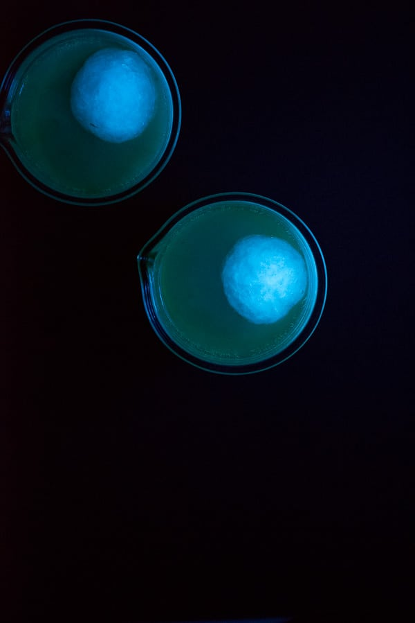 Infected Brain Cocktail under Black Light - BoulderLocavore.com