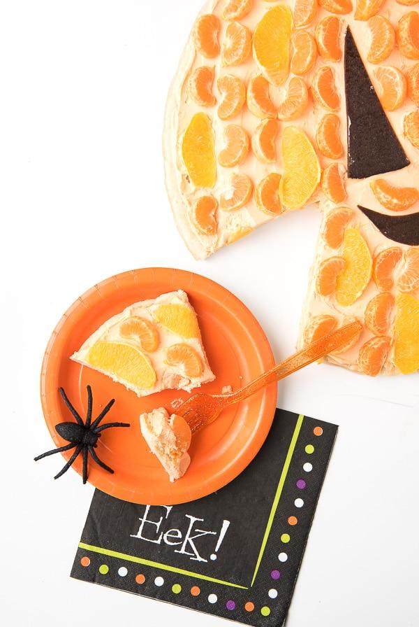Jack-o-Lantern Fruit Dessert Pizza - BoulderLocavore.com