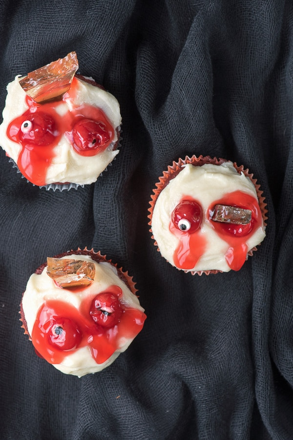 Mutilated Zombie Cupcakes above