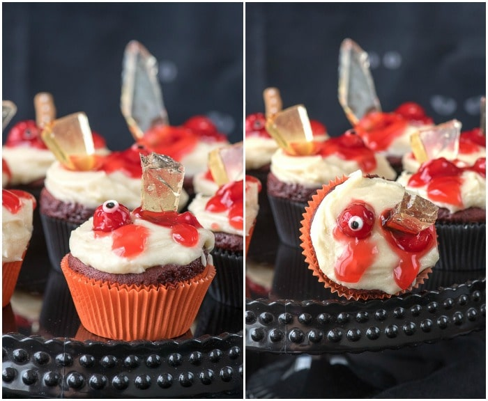 Mutilated Zombie Cupcakes For halloween