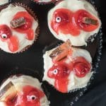 Mutilated Zombie Cupcakes with Edible Glass Shards