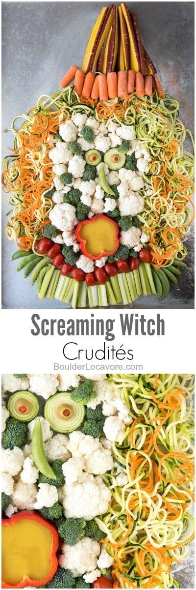 Halloween Crudités collage