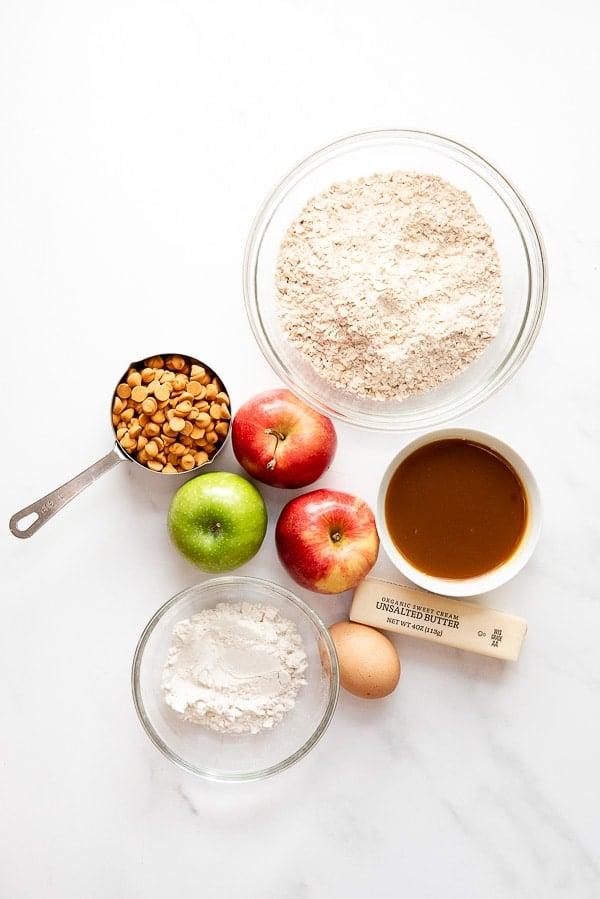 Shortcut Cinnamon Caramel Apple Bars ingredients