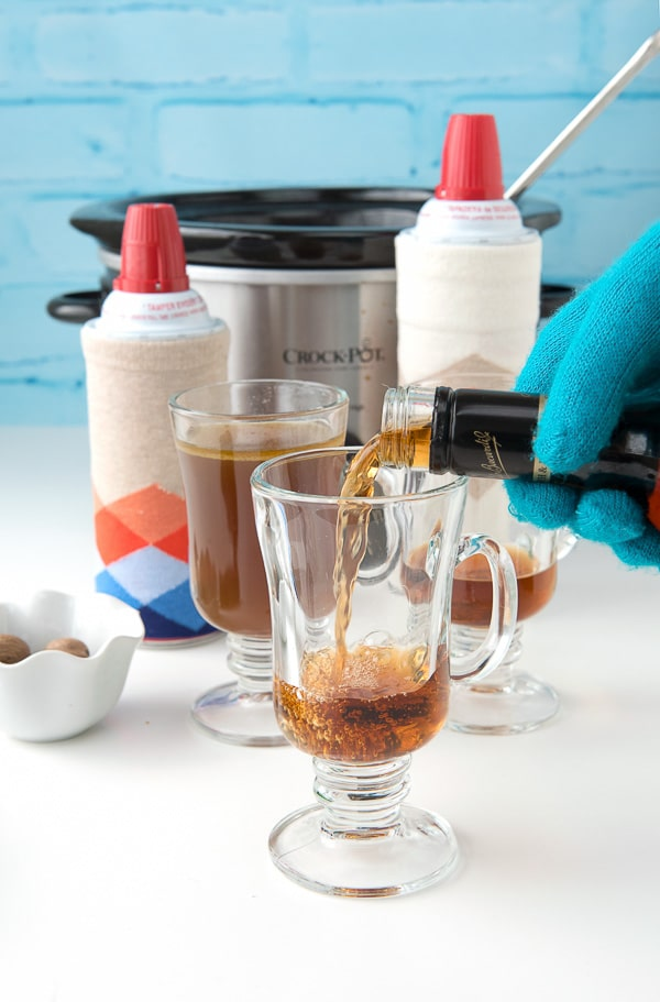 Slow Cooker Hot Buttered Rum self-serve bar - BoulderLocavore.com
