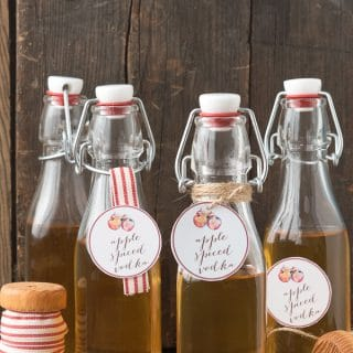 Apple Spiced Vodka with free printable gift tags - BoulderLocavore.com