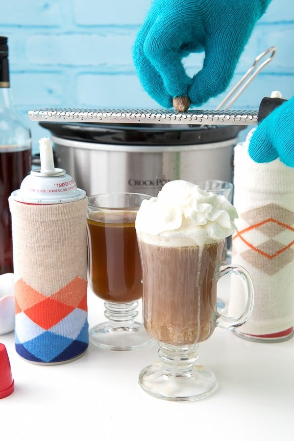 Hot Buttered Rum and DIY Whipped Cream Canister Cozies