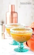 Persimmon Margaritas with Homemade Cinnamon Simple Syrup