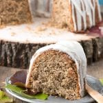 Persimmon Winter Bundt Cake with Hard Sauce Glaze