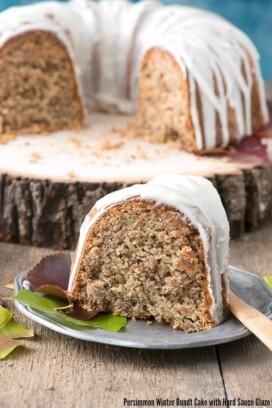 Persimmon Winter Bundt Cake with Hard Sauce Glaze