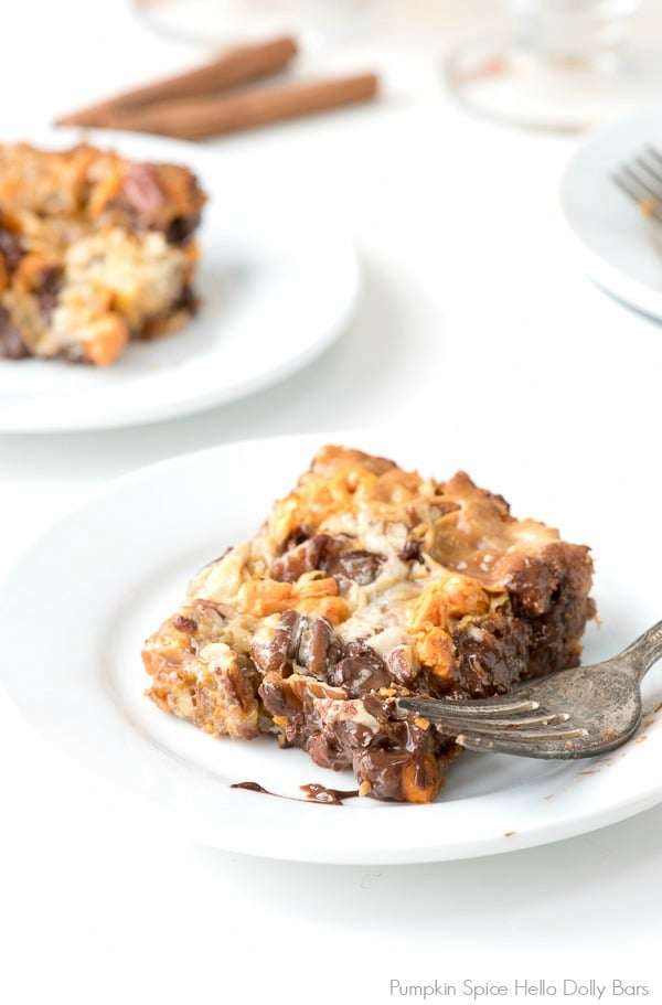 Pumpkin Spice Hello Dolly Bars - BoulderLocavore.com