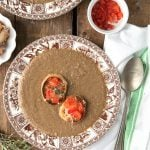 Rustic Wild Mushroom Soup with Parmesan Crostini