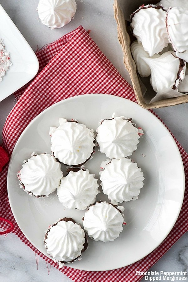 Chocolate Peppermint Dipped Meringues and #BakeItForward {video ...
