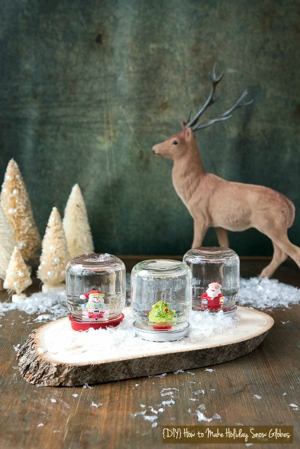 DIY How to Make Holiday Snow Globes