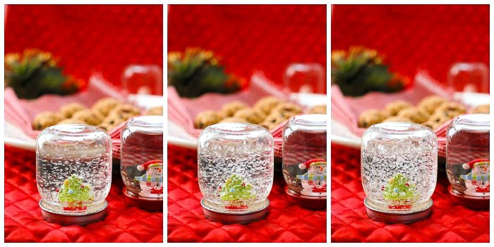 DIY How to Make Holiday Snow Globes collage - BoulderLocavore.com
